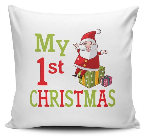 My 1st Christmas Cute Novelty Cushion Cover